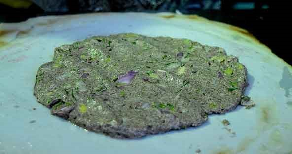 Bangalore food Akki Roti In The Making