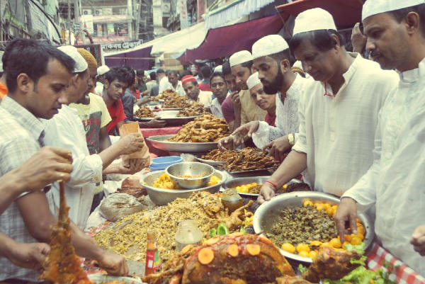 Bangalore food Mosque Road Food Street
