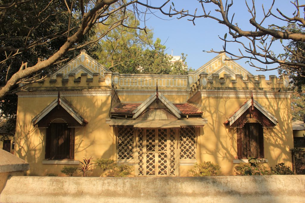 The Bungalow 7 which is reused as a marriage hall