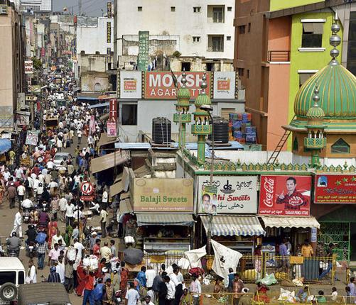 bangalore heritage market the pete area today