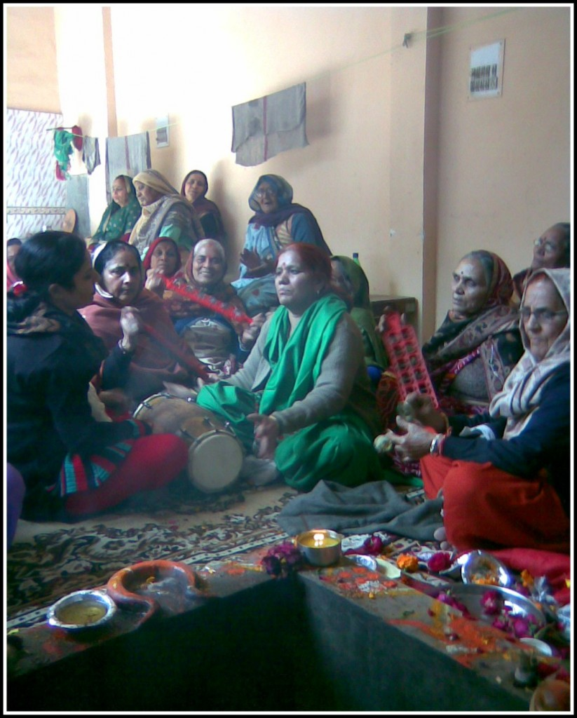 Kirtan Mandli Singing and playing Instruments