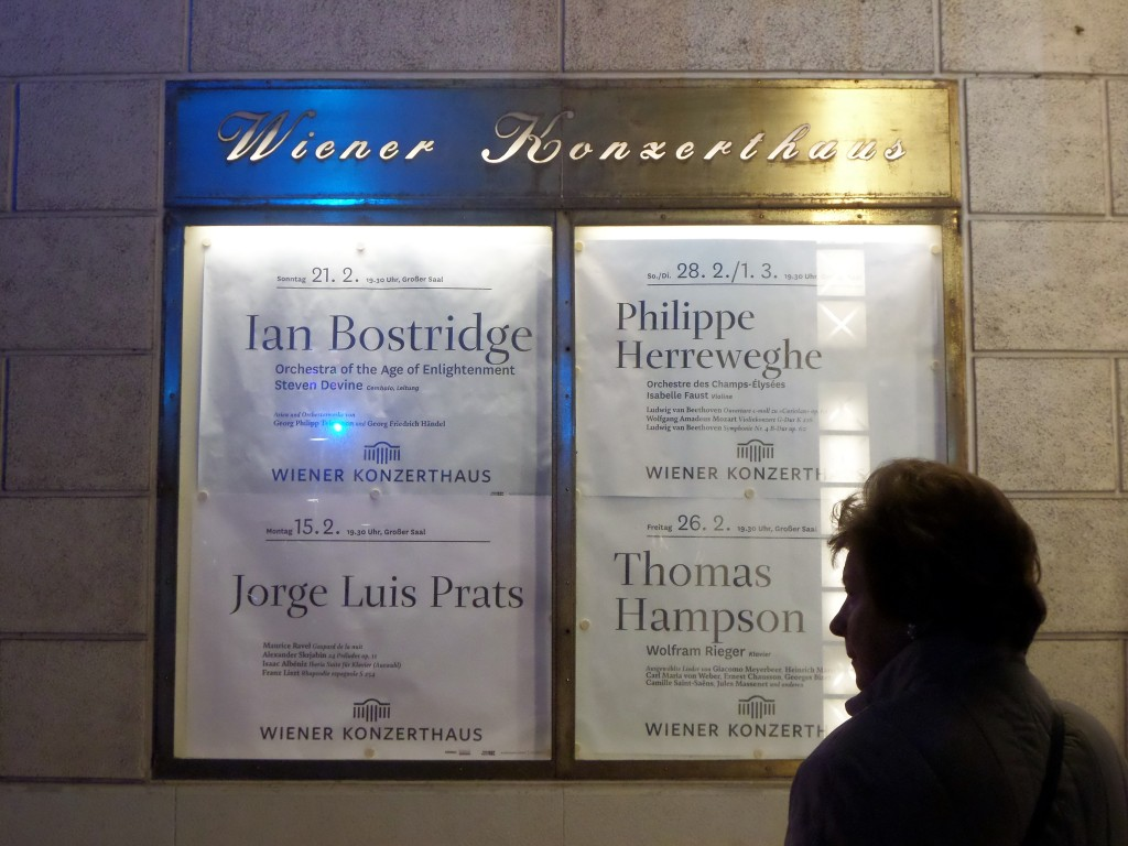 Posters at the entrance to the Konzerthaus