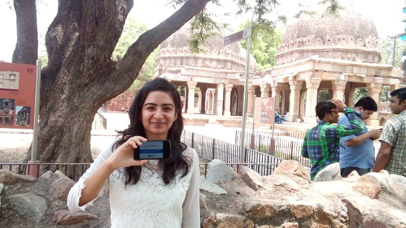 Shreeya Bhutani visited Hauz Khas Complex in Delhi