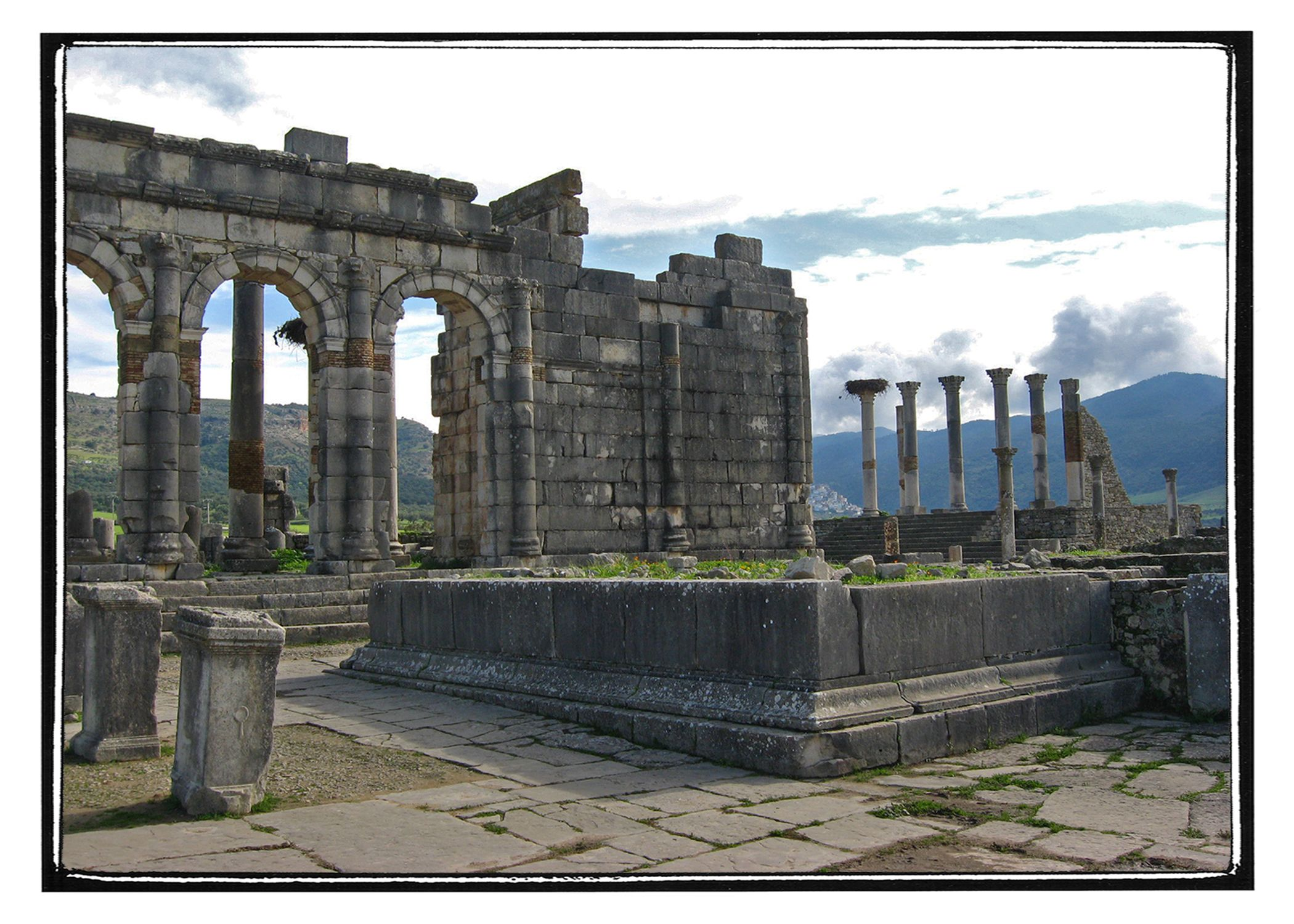 Archaeological Site of Volubilis Meknes and these Roman ruins rachel mahoney