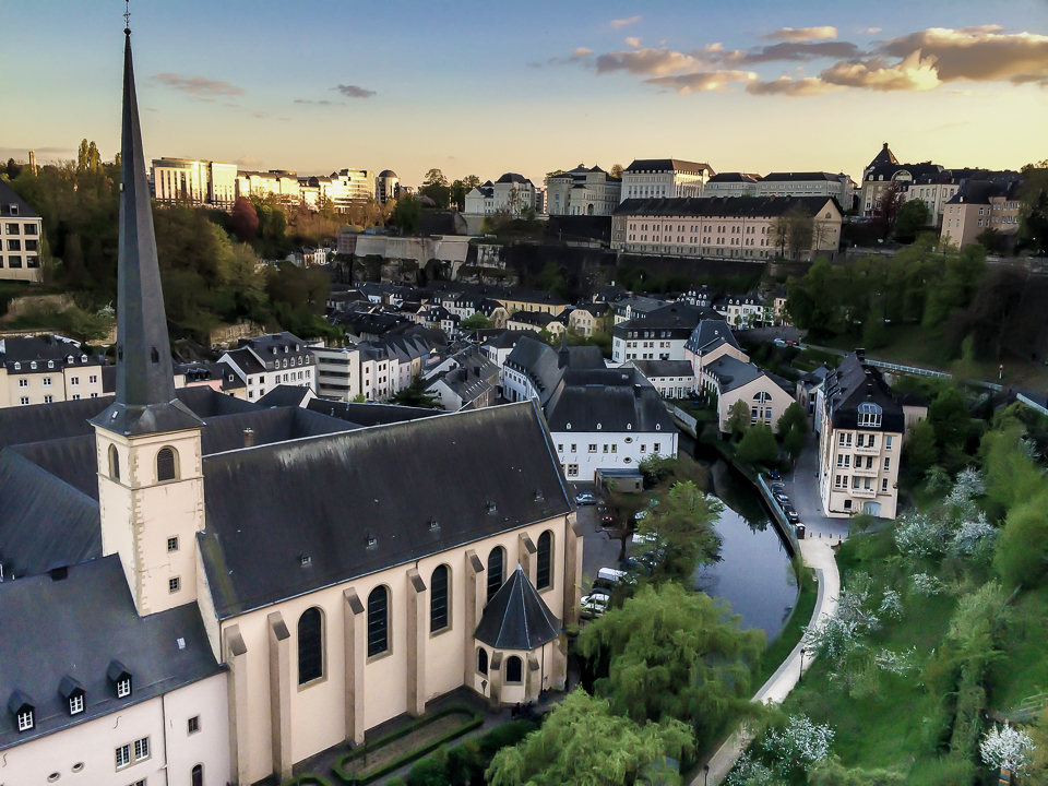 The Lower city of Luxembourg