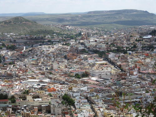 Overview of the city of Zacatecas