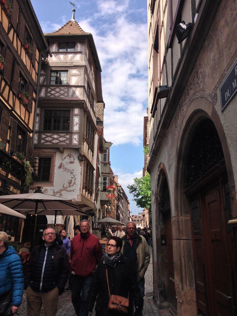 Street scene in Strasbourg