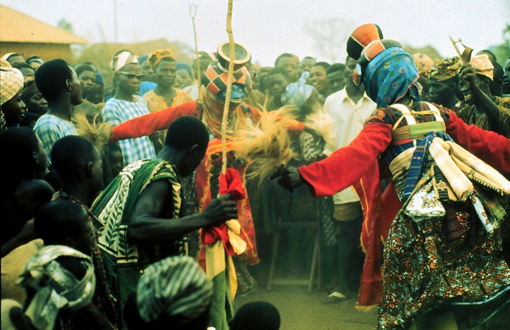 Maskers performing