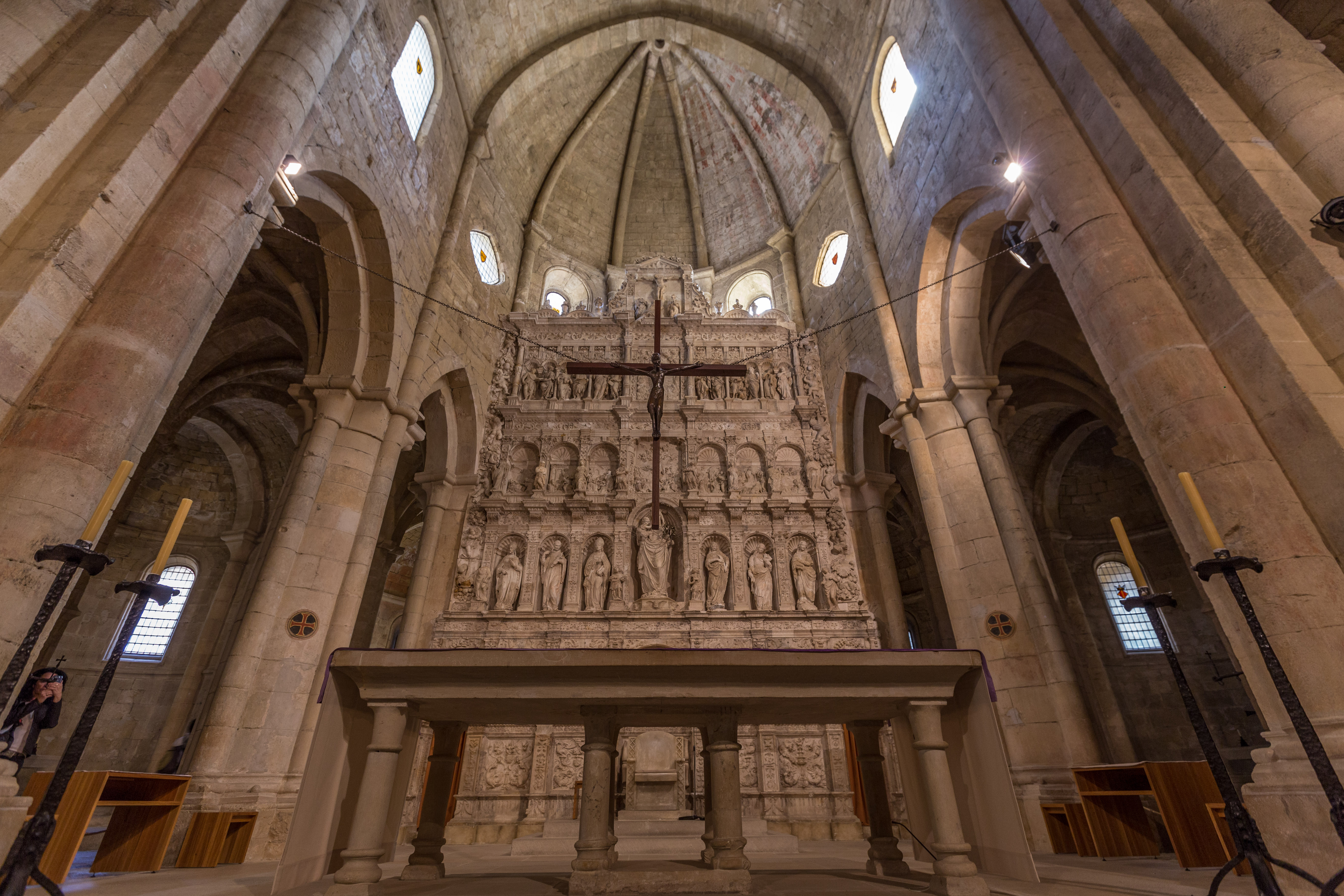 The altar in the Poblet monastery