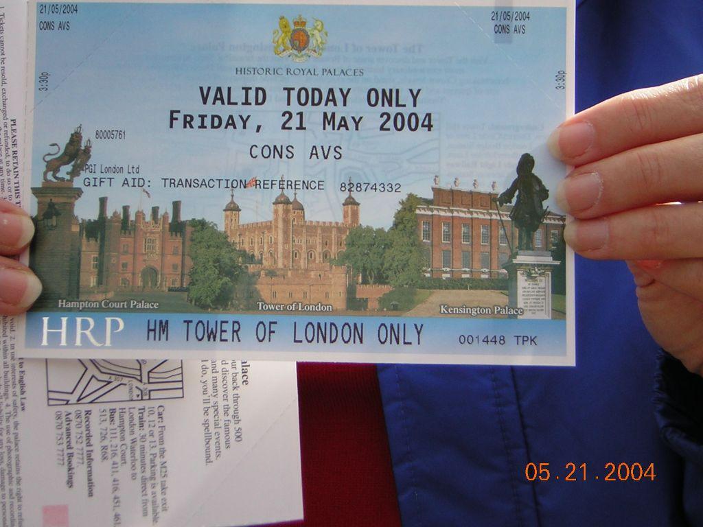 tower of london entry ticket
