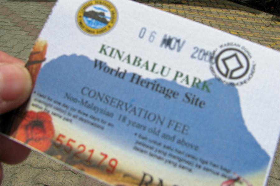 Ticket from Kinabalu Park - Ranau, Sabah, Malaysia