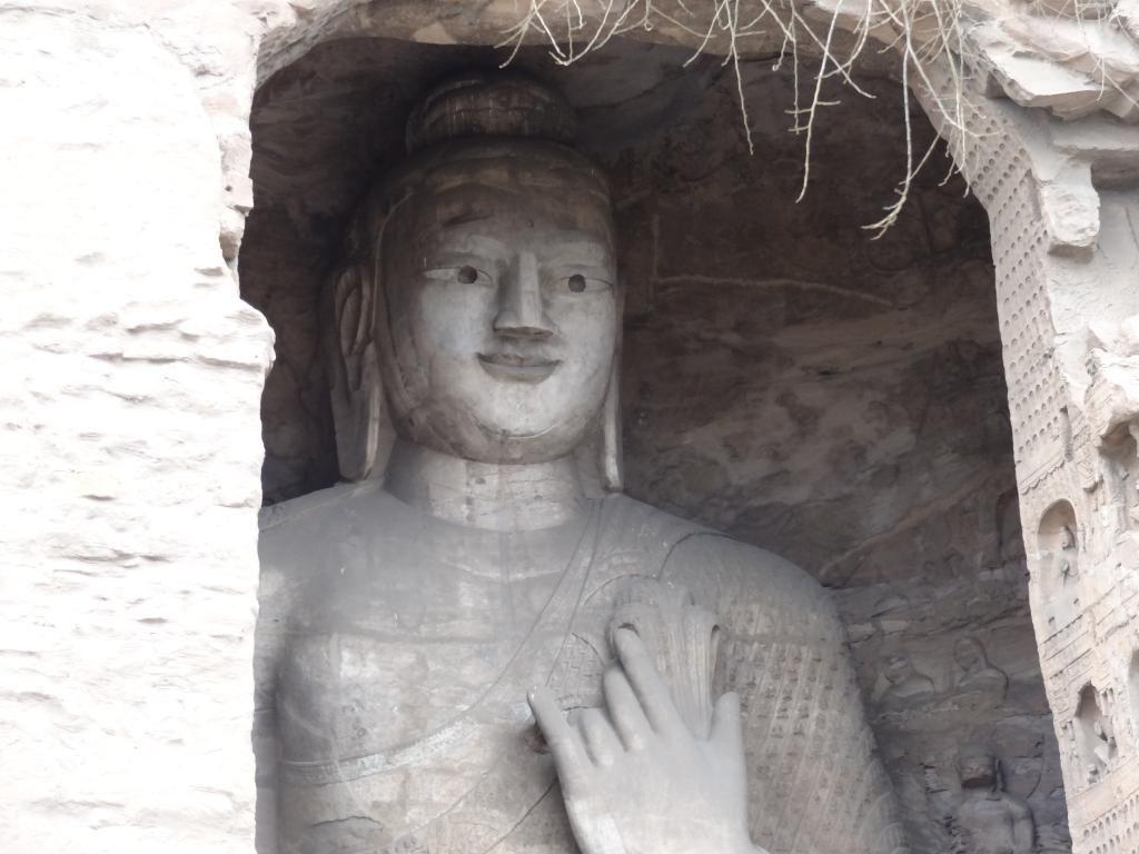 Peeping Buddha at Yungang grottaoes