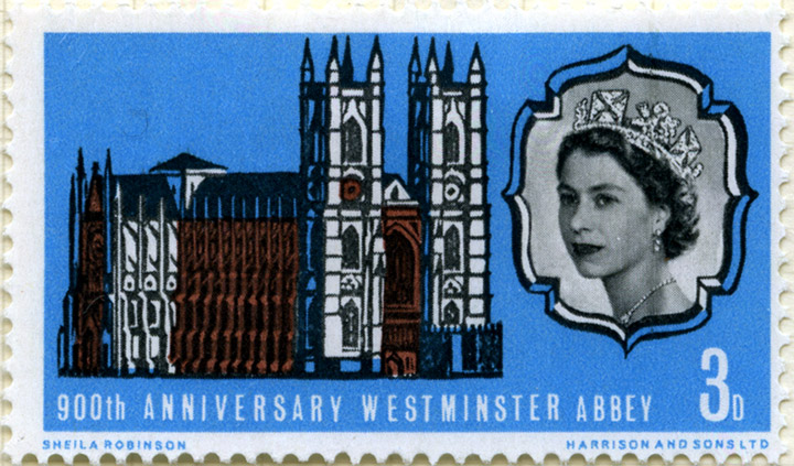Westminster Abbey, UK stamp