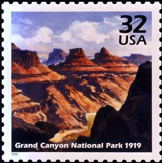 grand canyon national park stamp