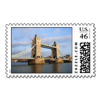 tower bridge london england postage