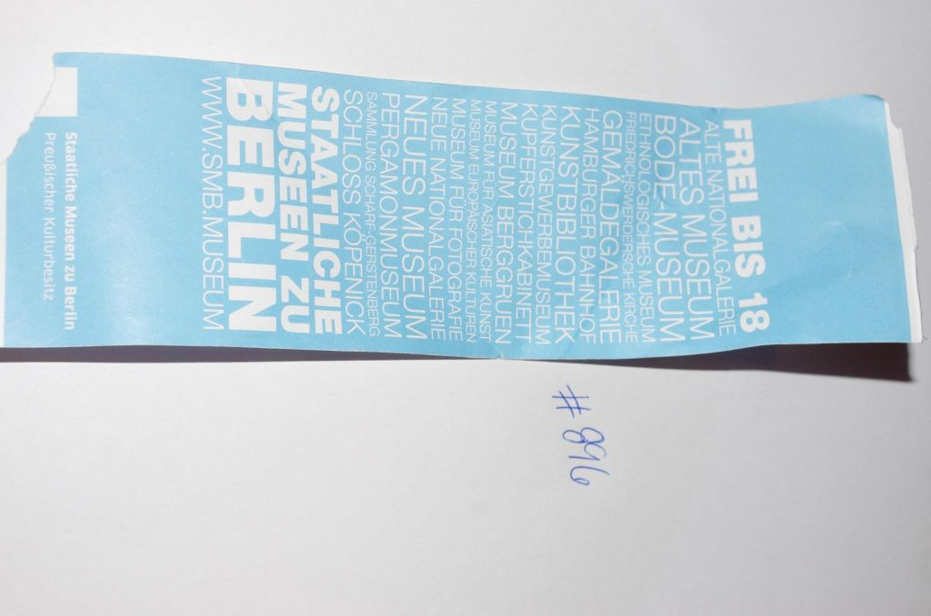 Ticket to Museumsinsel (Museum Island), Berlin