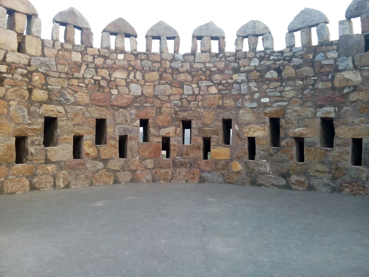 Bastions at Tughlaqabad Fort