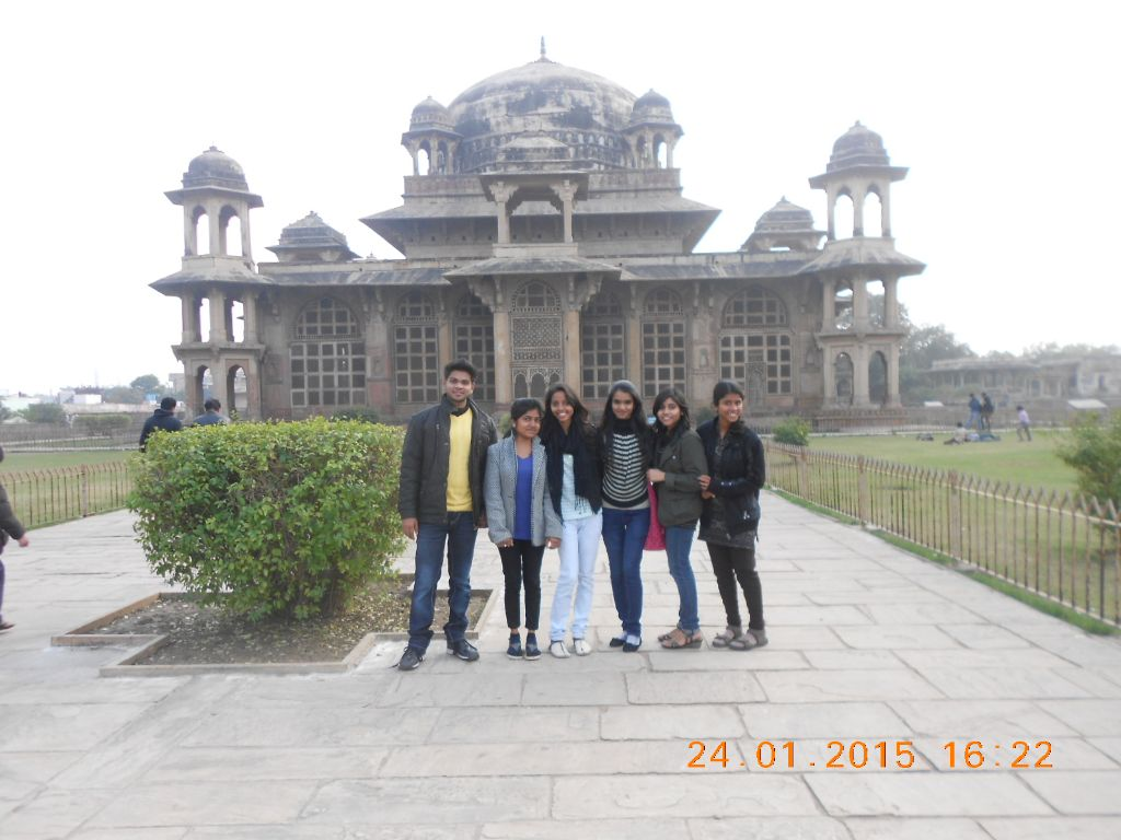 Me with friends at Tansen Memorial.