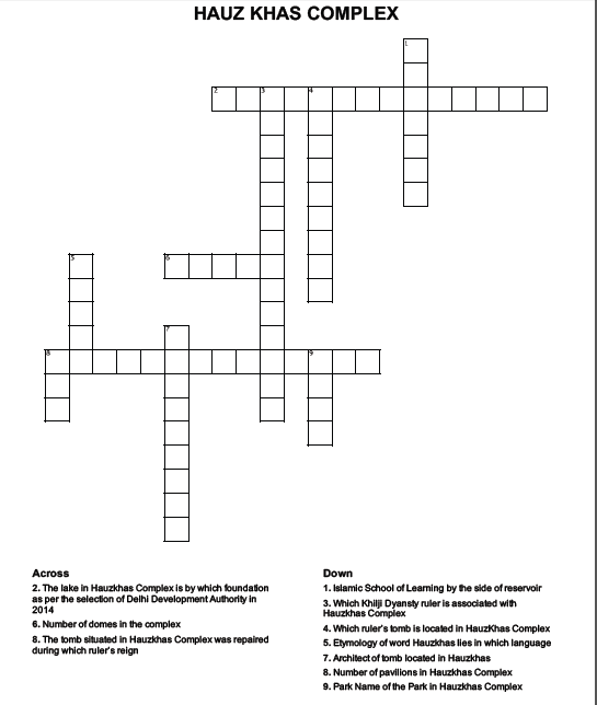 hauzkhas crossword