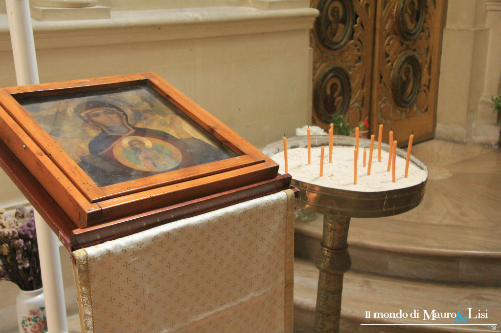A precious icon in the Greek Catholic church of Our Lady of Damascus.