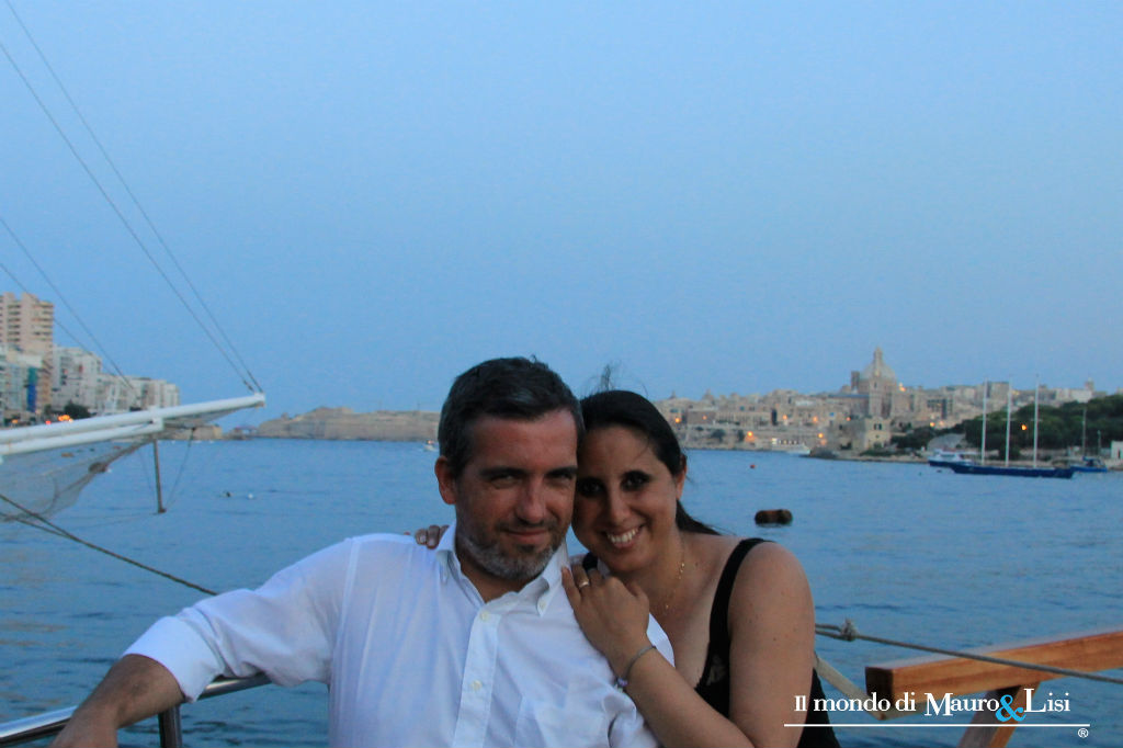Marsamxett Harbour. A romantic cruise looking at the Rock.