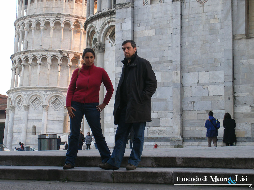 The novelist Diletta Nicastro in Piazza dei Miracoli with her husband-to-be.