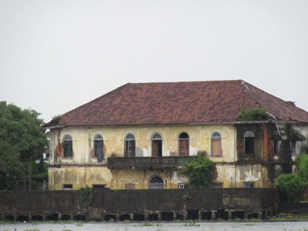 Old buildings viewed near the sea side
