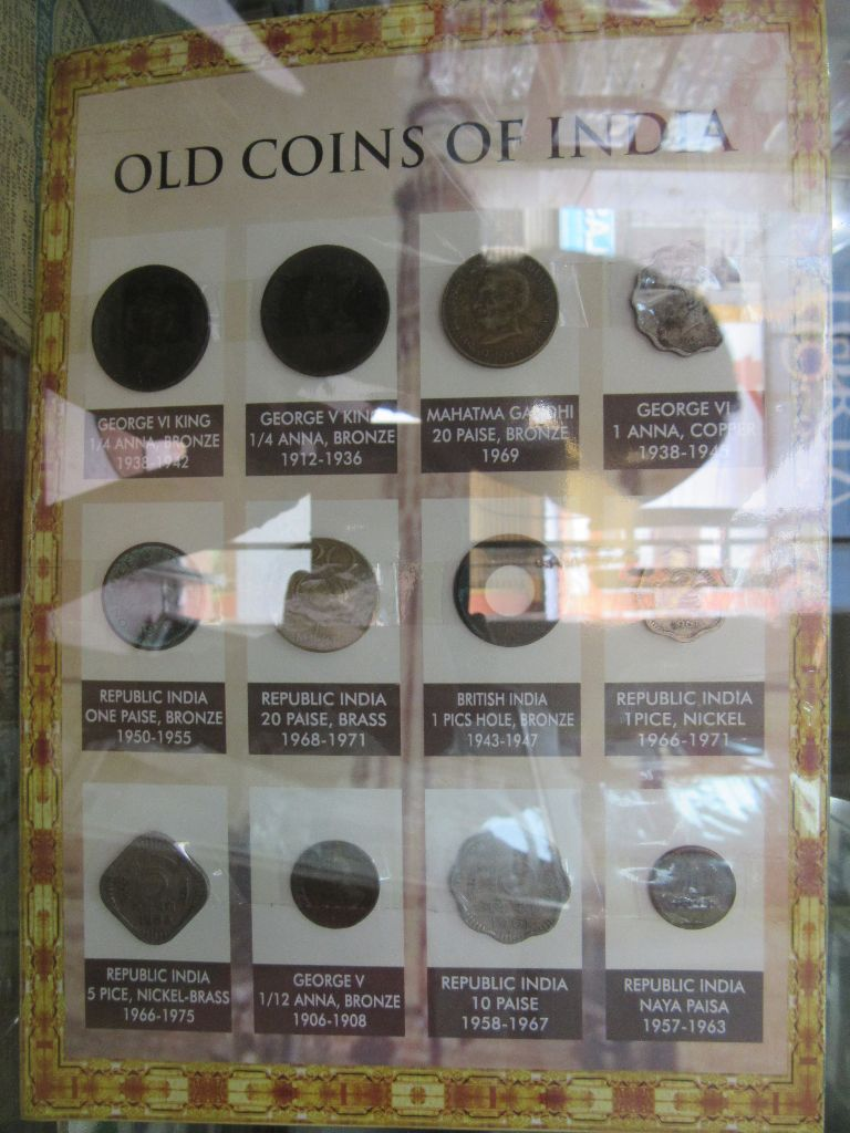 Old Coin collection displayed at the Palace