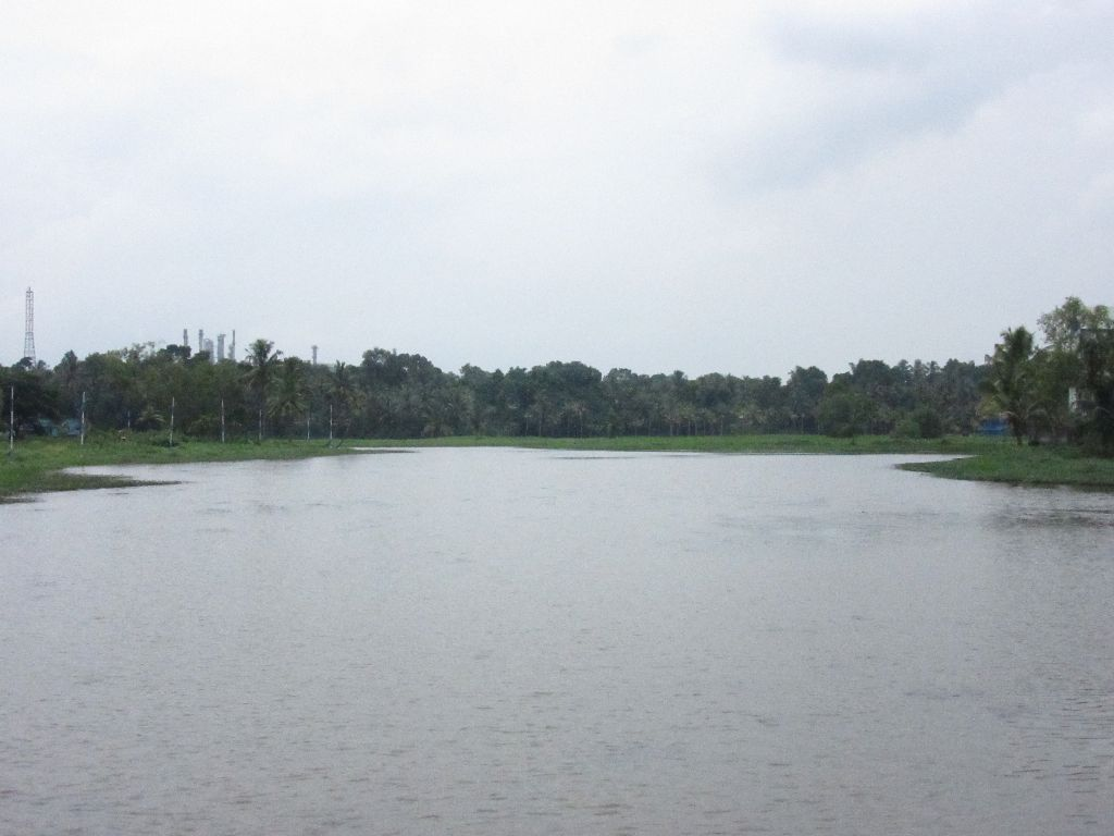3 tributaries of the lake at the park -depicting 3 fingers of Bhima's palm