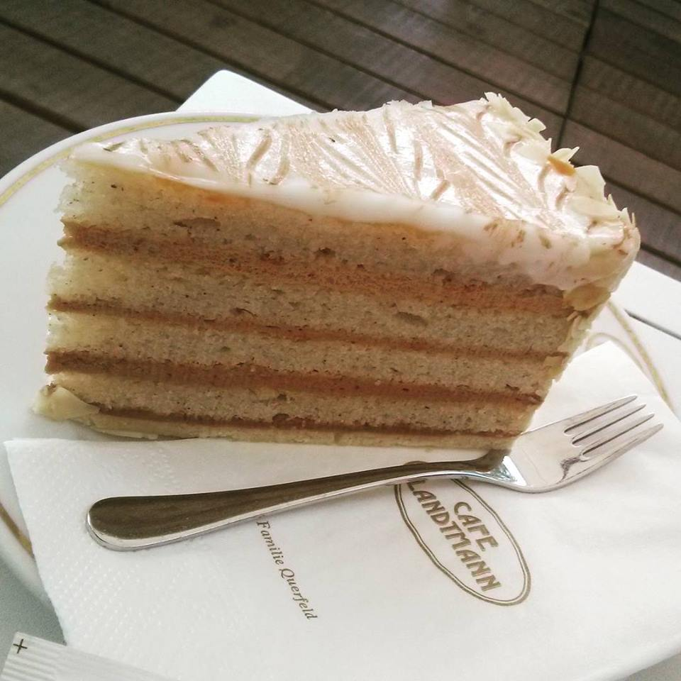 Eszterhazy Torte at the Cafe Landtmann
