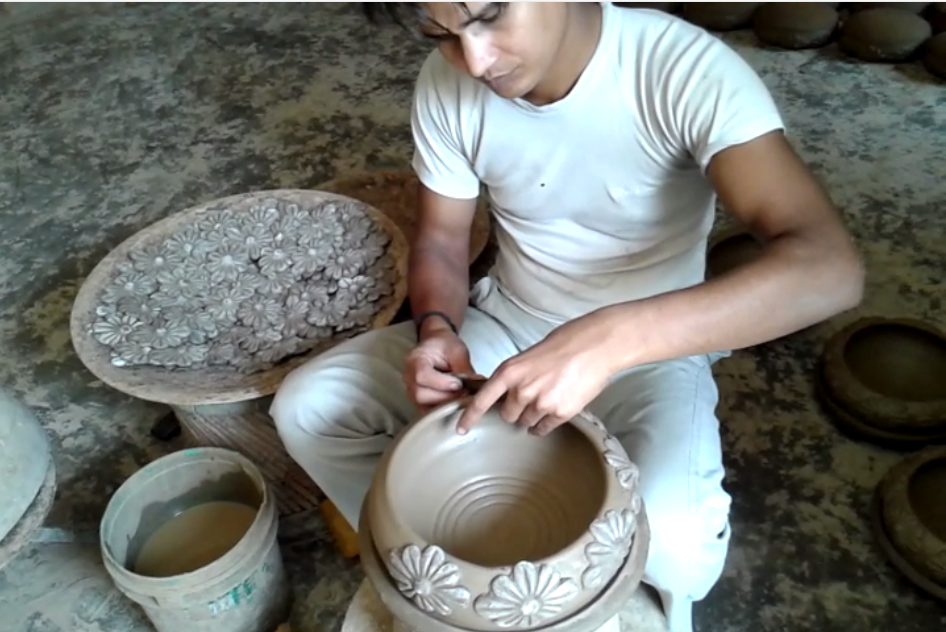 Ramesh creating a bowl