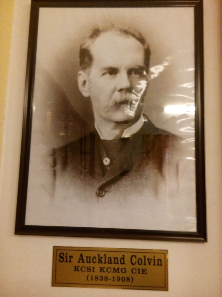 The Founder Sir Auckland Colvin.
