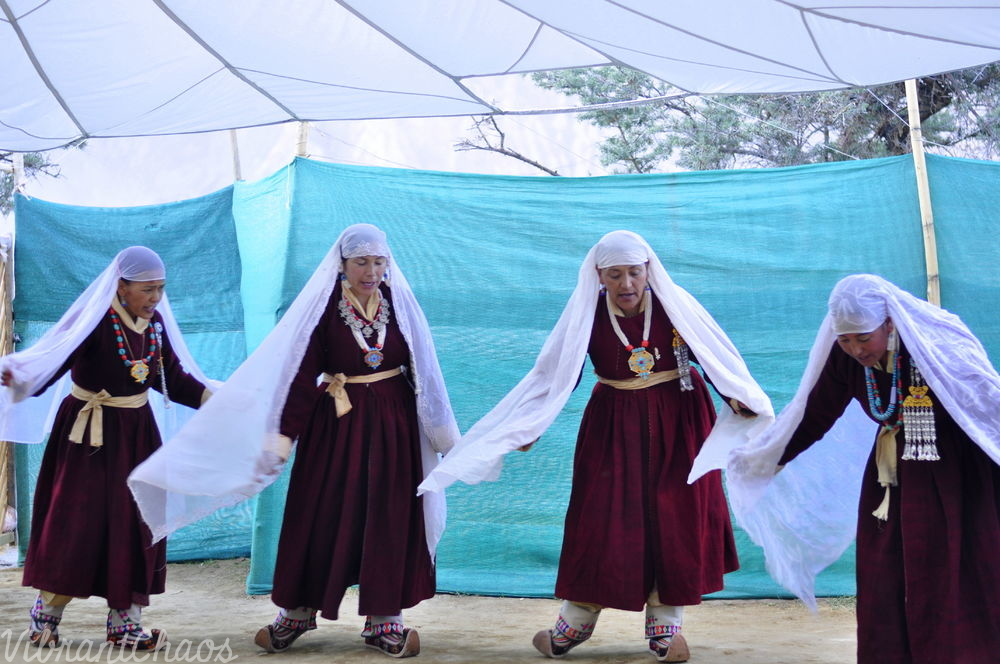 Ladakhi outfit - with headgear, wrapped around intelligently to work as an added prop
