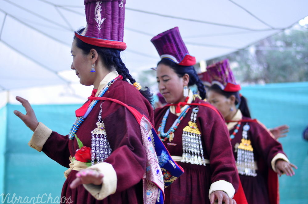 Ladakhi outfit - with modification of an added headgear