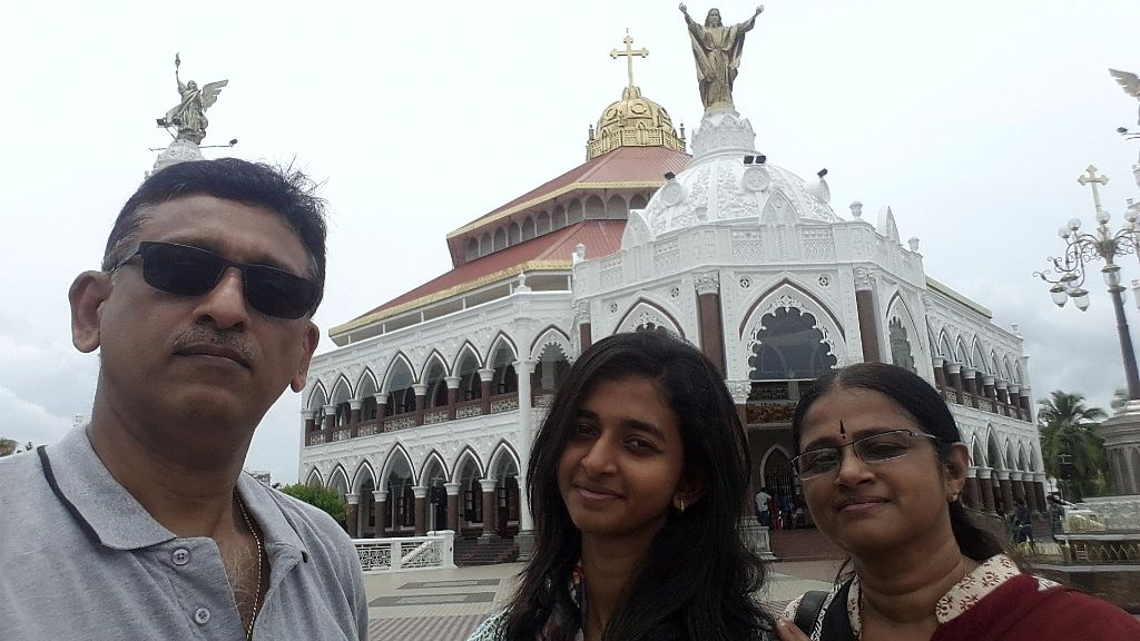 In front of Edapally church
