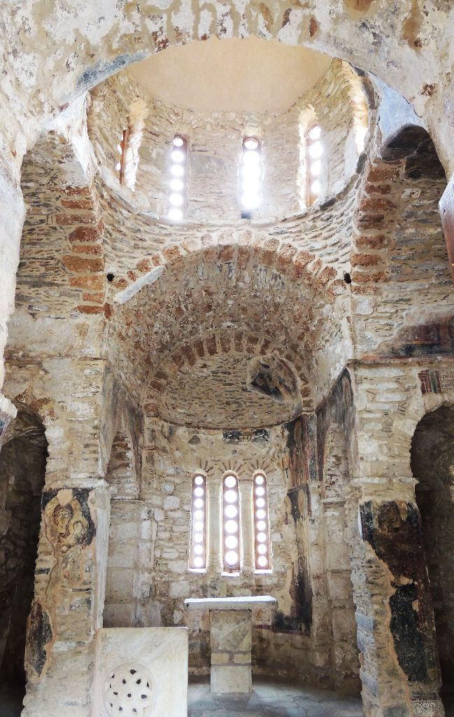 The interior of the church and its cupola photo by Kristalia Melessanaki