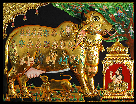 tanjore-paintings-kamadhenu
