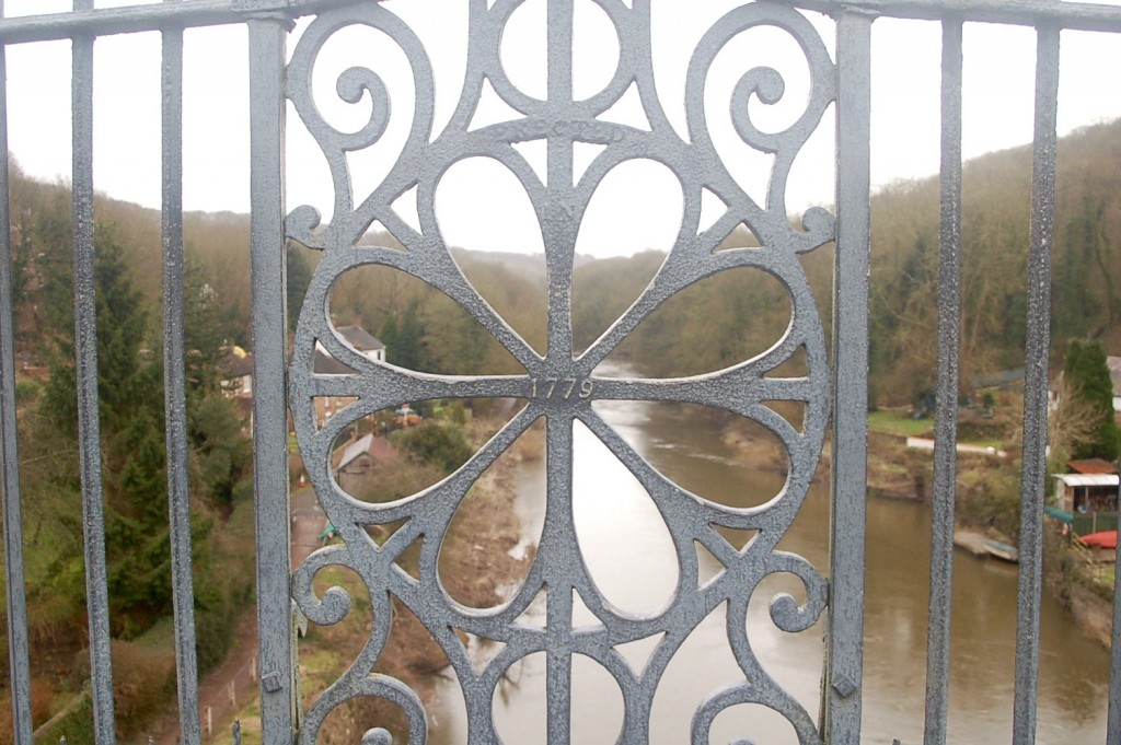Close up of the iron detailing on the bridge