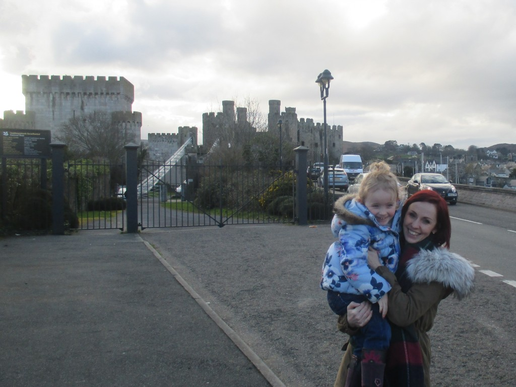 Jade and I outside Conwy Castle