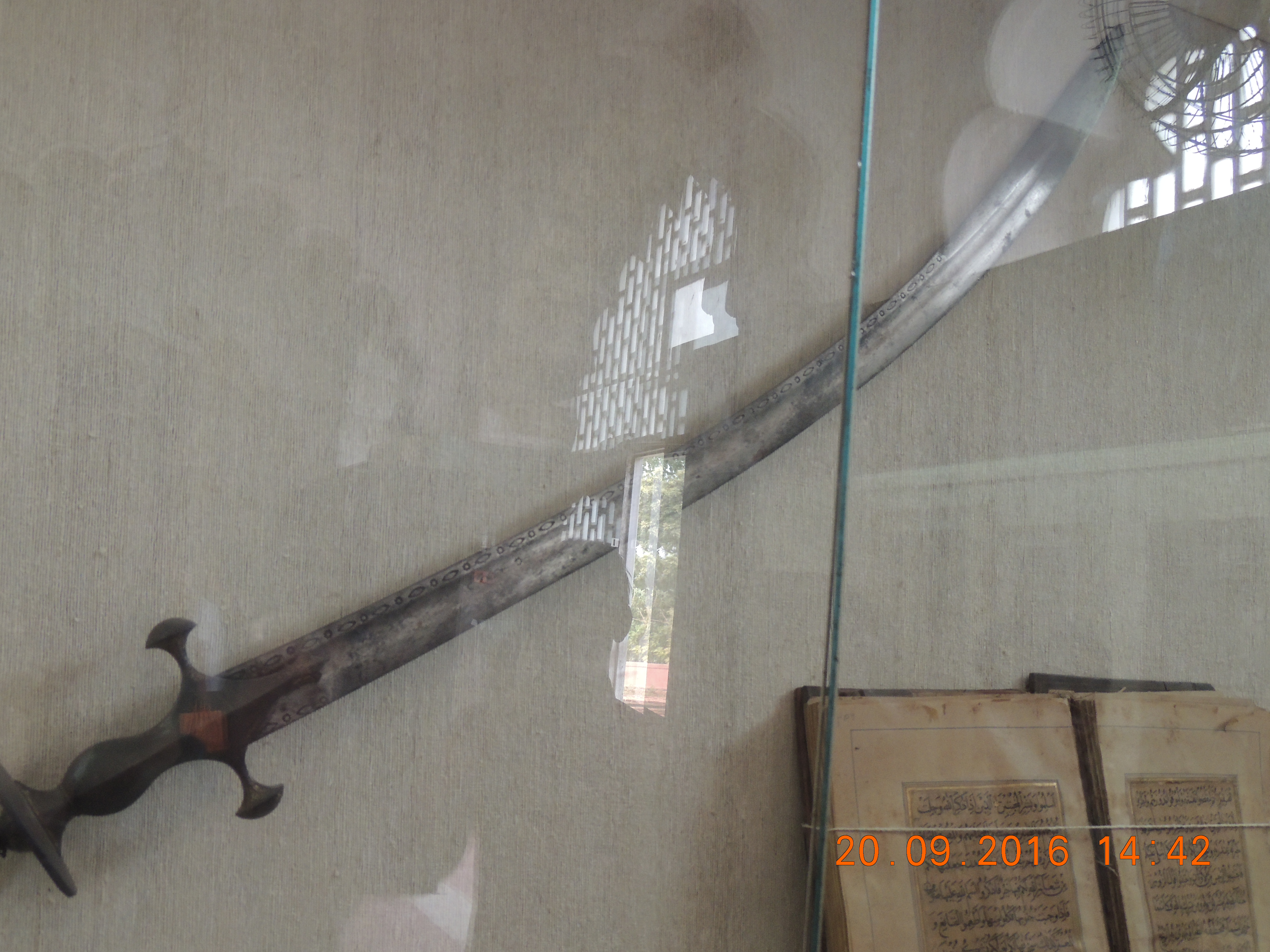 The sword used during wars.