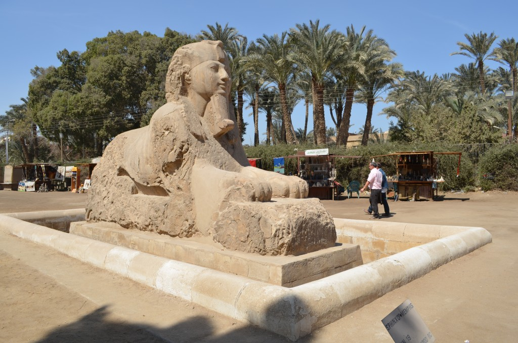 Alabaster Sphinx of King Amenemhat II, Garden of Mit Rahina Museum by © Nesma Ahmed el-Ghabaty