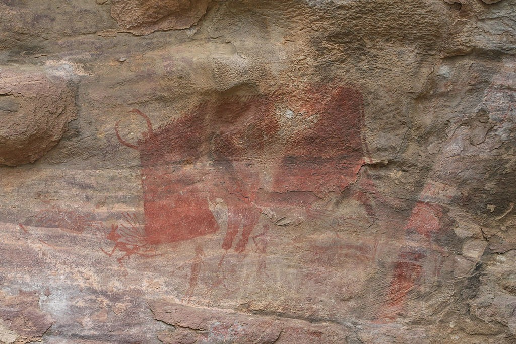 Hunting Painting on rock