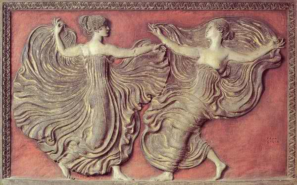 A depiction of ancient Greek dance