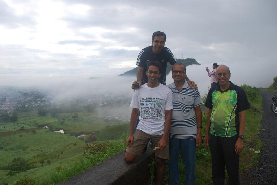 With friends and clouds. Photo courtesy Sunita T