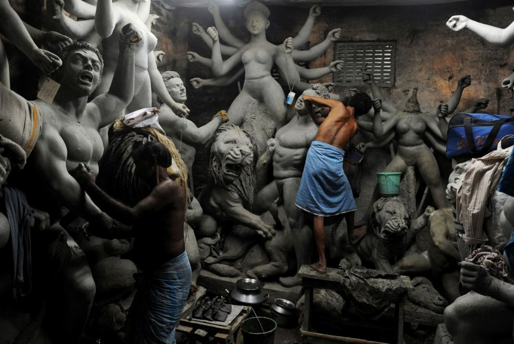 durga_idols Kumartuli the travelphotographer