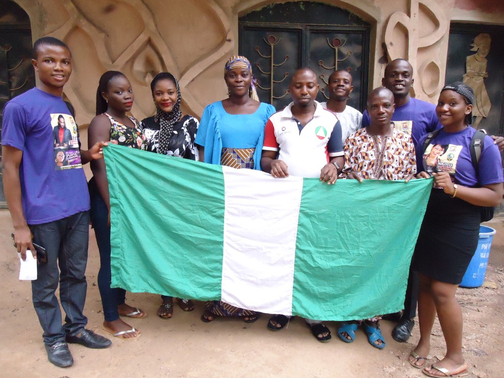 Participants with the staff of Osun-Osogbo Sacred Groove
