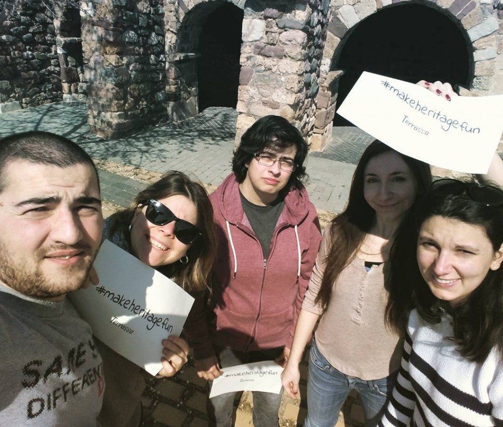 Participants at the La Seu d'Egara Church #makeheritagefun at Terrassa