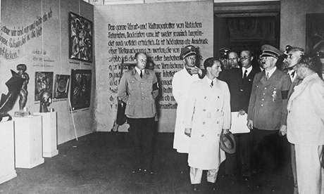Hitler at The Degenerate Art exhibition in 1933