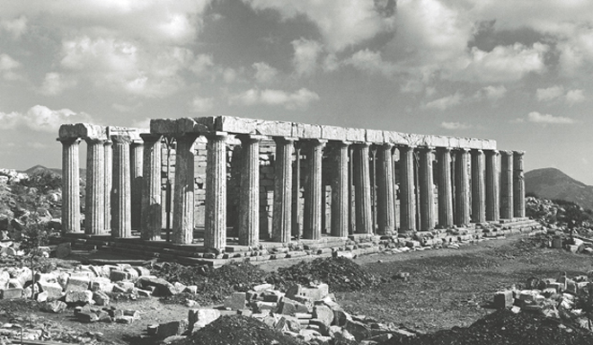 View of the temple from NW, 1976_Photo_Courtesy Hellenic Ministry of Culture and Sports