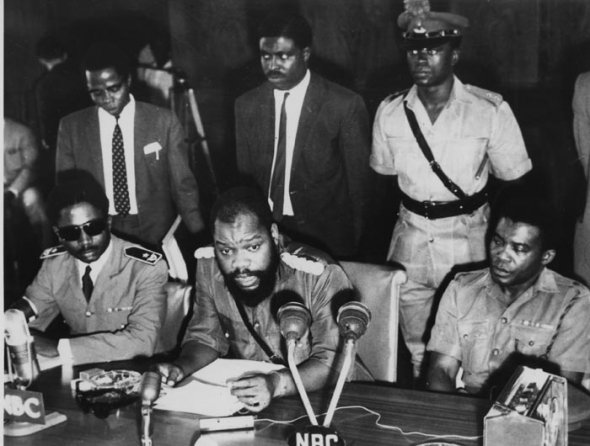 Effiong and Ojukwu on Biafra Declaration Day
